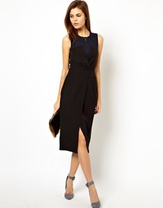 {Bridesmaid ideas} ASOS Wrap Pencil Dress With Bustier Detail