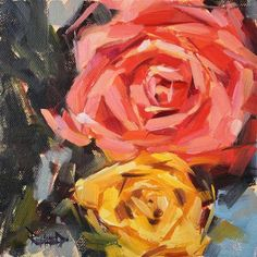 """Valentine Rose"" - Original Fine Art for Sale - � Cathleen Rehfeld"