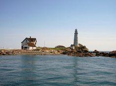 Boston Light on Little Brewster Island - Boston Harbor