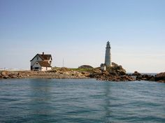 Little Brewster Island and Lighthouse: Boston Light on Little Brewster Island - Boston Harbor