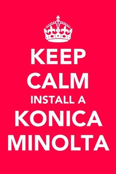 Keep a stiff upper lip chaps, if you install a Konica Minolta Production Printer you'll always be calm.  http://kmaudealerppg.posterous.com/keep-calm-folks