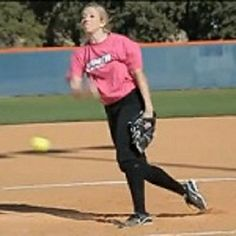 Amanda Scarborough throwing a screwball. See more great softball pictures and posters by Liking us on Facebook: https://Facebook.com/BestSoftballVideos