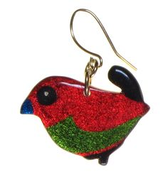 4138-3 - Red Bird Earring originjewelry.net