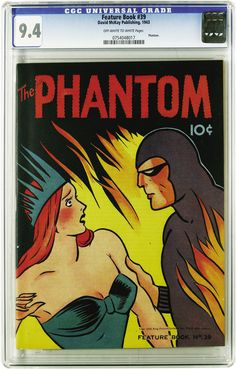 Phantom comic, The cover is taken from a Sunday color panel and applied to this cover; unfortunately, the story inside is from a daily episode. Still, a great Phantom comic cover and my personal favorite. Comic Book Characters, Comic Books Art, Comic Art, Pulp Fiction Comics, Phantom Comics, Vampire Bites, Marvel, Fun Comics, Pulp Art