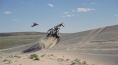 Play in one of the world's largest sand boxes at the Killpecker Sand Dunes near Rock Springs, Wyoming.