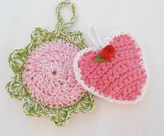 ♥ Lavendelherz und Blüte  ♥ von Oktoberfrau auf DaWanda.com