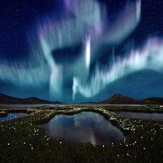Iceland. Aurora Borealis.