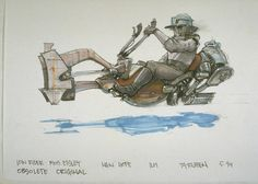 Star Wars - TyRuben Ellingson's concept for the Swoop Bikes...