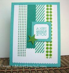 A Very Happy Birthday 2 You - using Washi tape