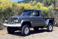 Jeep's replacement for both its Willys pickup and the FC (Forward Control) truck was the Gladiator pickup. The Gladiator was a much more modern full-size pickup than Jeep's earlier workhorses. This Jeep was contemporary enough that, with a few updates and styling changes, it stayed in production without a ground-up redesign for 24 years.