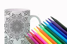 CREATIVITY Mandala Mug DIY Color Your Own Mandala by Exaltation