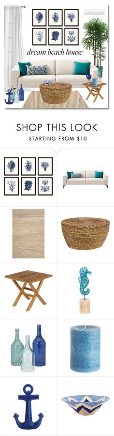 """""""Vacation Vibes: Dream Beach House"""" by miee0105 ❤ liked on Polyvore featuring interior, interiors, interior design, home, home decor, interior decorating, Safavieh, Kosas Home, Barlow Tyrie and Midwest of Cannon Falls"""