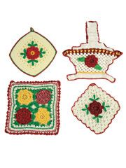 Vintage Red Rose Pattern Pack - Electronic Download