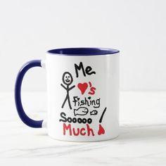 Loves Fishing Cartoon Mug - love gifts cyo personalize diy