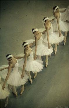 Ballerinas in white