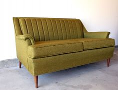 Manly Vintage Schweiger Avocado Loveseat