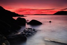 Sunset at Manorbier, Pembs - by Mark Davis Beautiful Places To Visit, Beautiful Homes, Mark Davis, Wales, Castle, Sunset, Beach, Outdoor, House Of Beauty