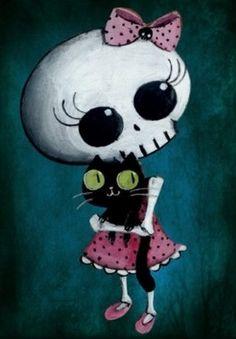 Cute skeleton cartoon - Skullspiration.com - skull designs, art