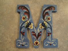 Letter with rosemaling