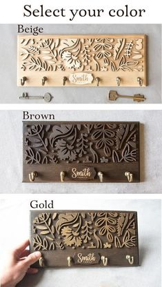 Last Family Name Established Sign Laser Cut Name Wooden Sign Key Holder For Wall Key Rack Hook Entryway Wall Organizer Roommate Gift Decor – Home Design Laser Cutter Ideas, Laser Cutter Projects, Laser Cut Wood, Laser Cutting, Wood Laser Engraving, Laser Cut Signs, Articles En Bois, Family Name Established, Wall Key Holder