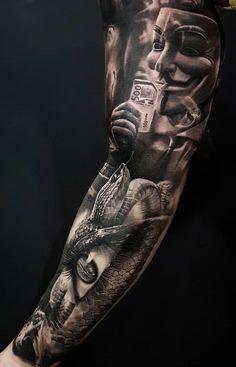 oldschool tattoovorlagen 50 So coole Tattoo-Ideen Forarm Tattoos, Chicano Tattoos, Forearm Tattoo Men, Leg Tattoos, Black Tattoos, Body Art Tattoos, Dj Tattoo, Tattoo Wolf, Cool Tattoos For Guys