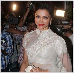 Deepika Padukone - lace saree blouse