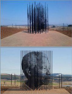 'Nelson Mandela' Prison Bar Installation Art by Marco Cianfanelli Nelson Mandela, Mandela Art, Alberto Giacometti, Architecture Unique, Modern Art, Contemporary Art, Art Public, Instalation Art, Bar Art