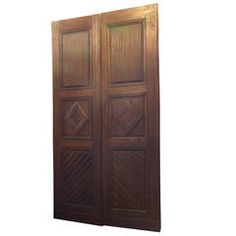 Antique Walnut Double Door | From a unique collection of antique and modern doors and gates at https://www.1stdibs.com/furniture/building-garden/doors-gates/
