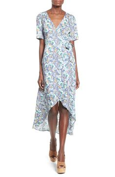b1dcba432e53 Blue White Sleeveless Floral A Line Dress   Everyday Dresses   Pinterest    Manche, Sommer und Blume