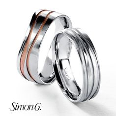 29f8721574f Simon G mens wedding band available in two tone