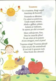 Montessori Activities, Kindergarten Activities, Preschool Activities, English Rhymes, Kids Poems, Autumn Activities, Autumn Theme, Kids Education, Nursery Rhymes