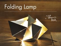 The Folding Lamp is an origami-inspired, contemporary design lamp where you participate in the creative process, thus making it unique.