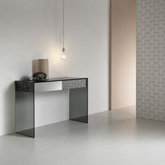 Sideboard table / rectangular / contemporary / glass - GOTHAM by Leonardi_Marinelli - TONELLI Design