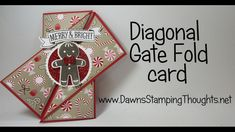 cardmaking video tutorial: Diagonal Gate Fold card featuring Stampin'Up! products ... fun fold ... will need to make your own envelope it you want to mail it closed ...
