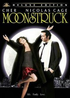 // Moonstruck with Cher, Nicolas Cage, and Olympia Dukakis Nicolas Cage, Harold Et Maude, Love Movie, Movie Tv, Plus Tv, Bon Film, I Love Cinema, Snap Out Of It, Movies Worth Watching