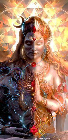 Half Shiva - Half Shakti http:/ /www.it/tantra-principi-base Rudra Shiva, Mahakal Shiva, Shiva Art, Shiva Statue, Hindu Art, Lord Shiva Pics, Lord Shiva Hd Images, Lord Shiva Family, Lord Shiva Hd Wallpaper