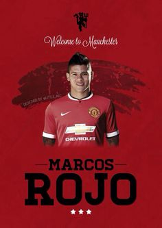 'Welcome to Manchester, Rojo' graphic by designer @Little_AIG.