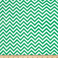 Minky Cuddle Mini Chevron Kelly Green/Snow from @fabricdotcom  This Minky Cuddle Chevron fabric has an extremely soft 3mm pile that's perfect for baby accessories, blankets, throws, pillows and stuffed animals.