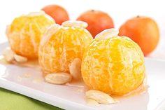 Receta de Mandarinas con Miel y Almendras