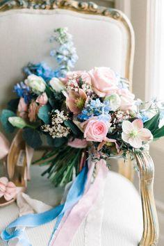 vintage rose quartz + serenity wedding inspiration