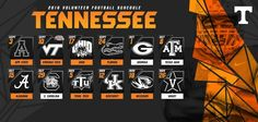 Seven games in Neyland Stadium, the return of an October tradition and the long-awaited Battle at Bristol, are all a part of the 2016 Tennessee football schedule. | Order 2016 Season Tickets | 2016 SEC Schedule (PDF) |