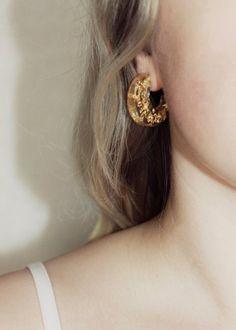 www.gildjewellery.com #handmade #resinjewelry #goldleaf
