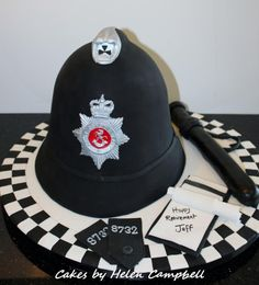 Police Retirement Cake - Cake by Helen Campbell