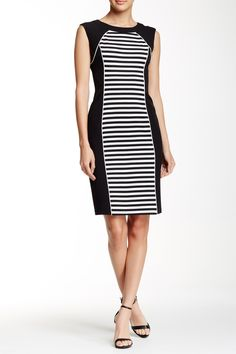 Sleeveless Crepe Sheath Dress by Maggy London on @nordstrom_rack