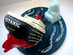 Titanic sinking. Made for my son's 9th birthday...