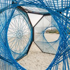 Designers, artists and architects created 12 installations for the inaugural Dubai Design Week to put the city on the map as a global design destination. Stage Design, Event Design, Urban Landscape, Landscape Design, Sitemap Design, Dubai Design Week, Rope Art, Shade Structure, Thread Art