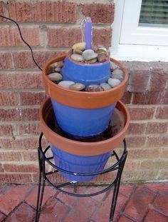 Clay pot fountain