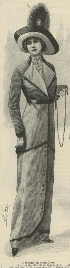 September 1912 Ladies Suit...man 1912 Rocked....except for the Titanic!