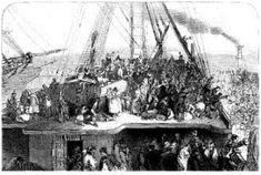 Irish emigration. Irish immigrants to America, Canada, Britain, Australia and beyond. Coffin Ships.
