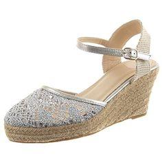 Sopily - damen Mode Schuhe Espadrilles Sandalen Plateauschuhe Fertig Steppnähte Schleife Seil - Silber - http://on-line-kaufen.de/sopily/sopily-damen-mode-schuhe-espadrilles-sandalen